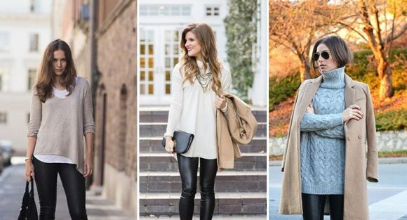 4b362b3b985b5 С чем носить лосины женщинам после 40 лет - Лучшие варианты