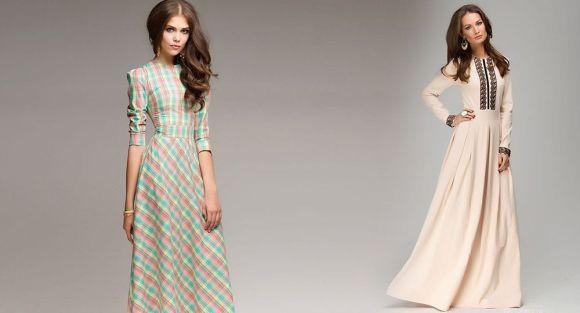 56b434bfdea Макси-платья с длинным рукавом для женщин старше 40 лет