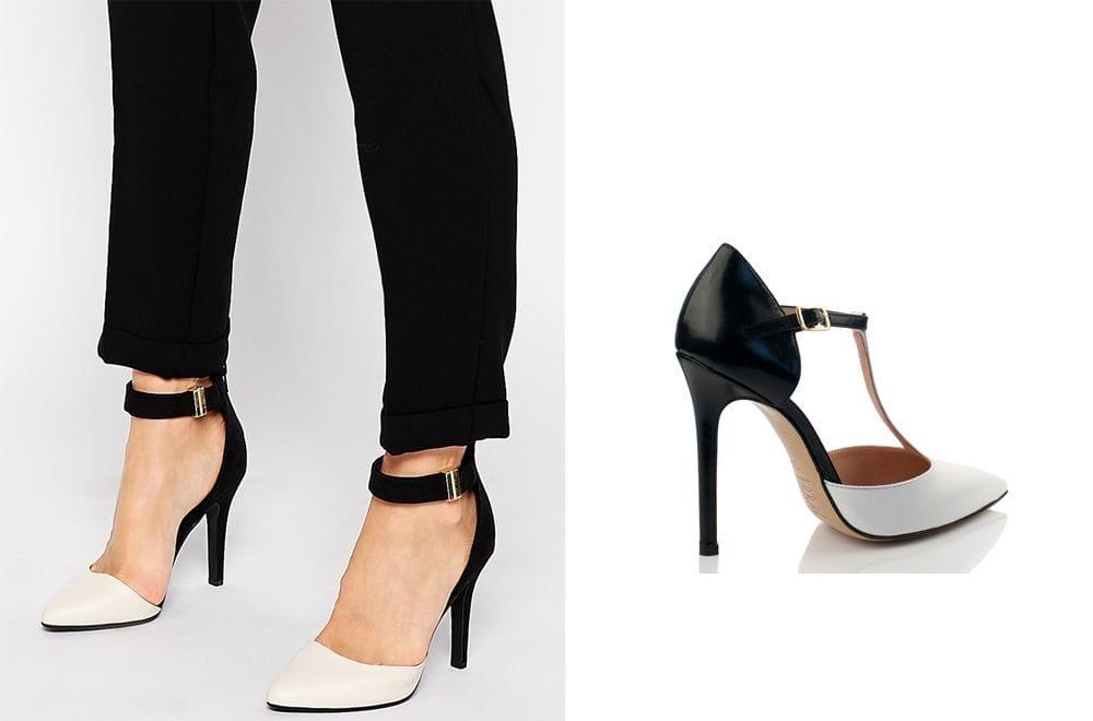 Бело-черные туфли