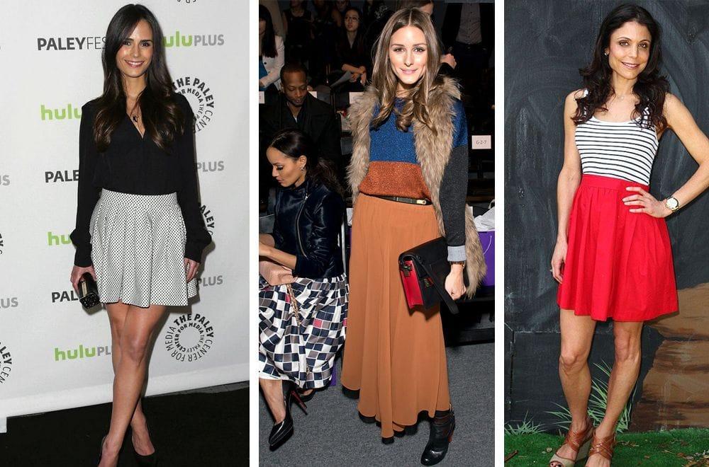 Как можно носить объемную юбку