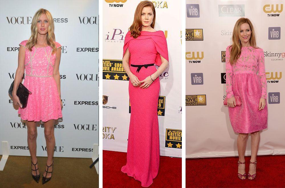 Розовое структурированное платье