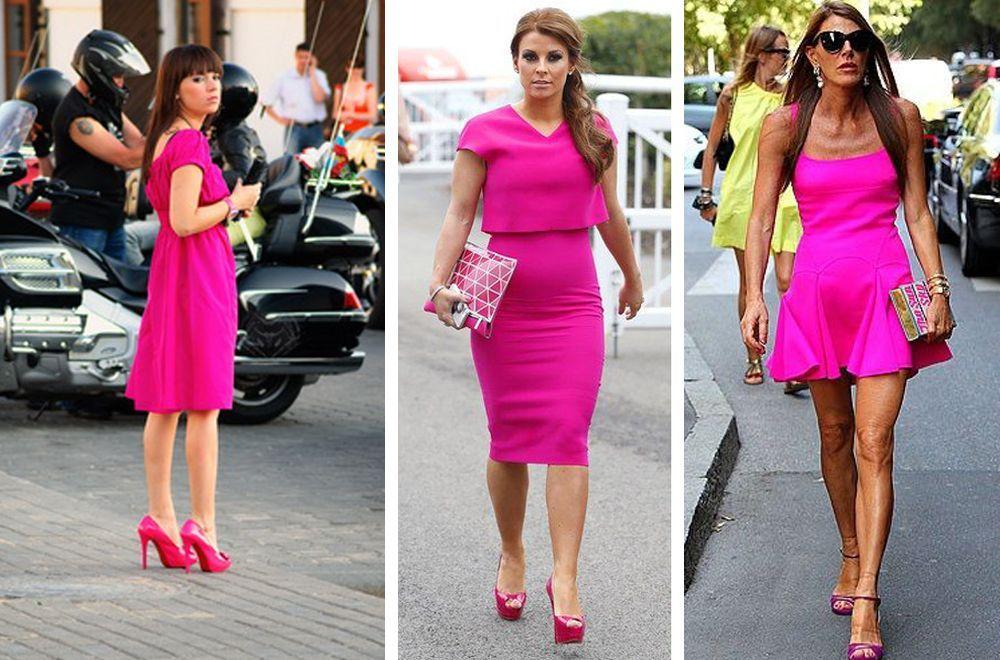 Розовые туфли под розовое платье