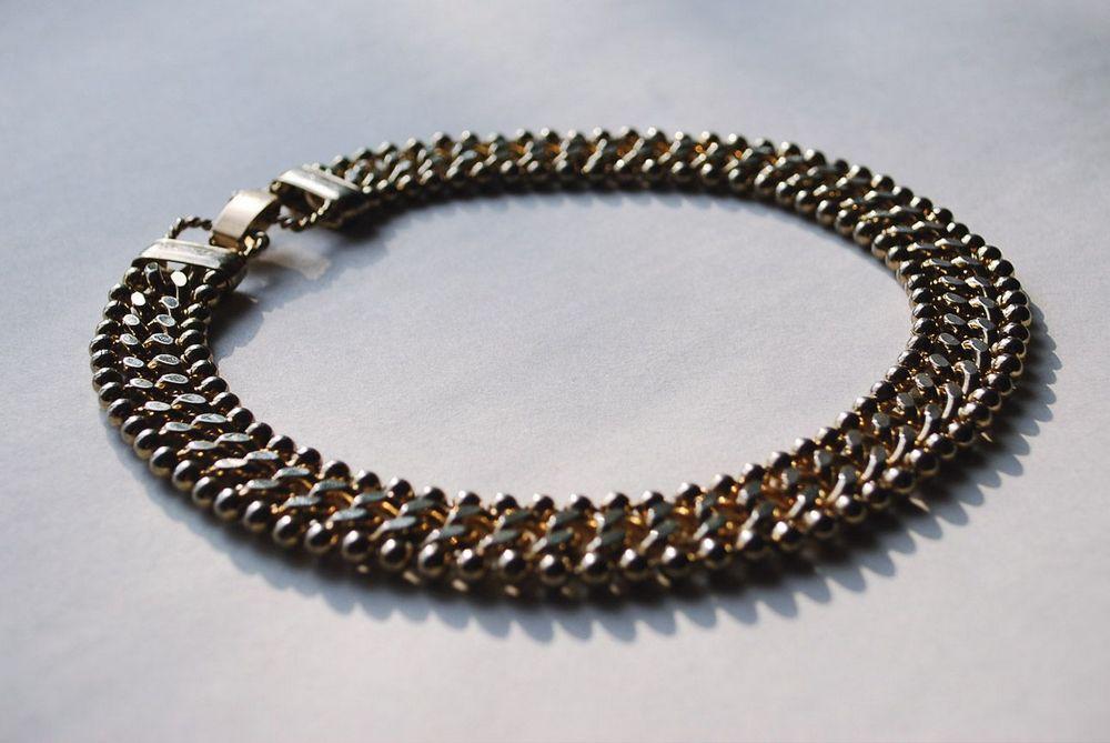 Текстурированное ожерелье-цепь