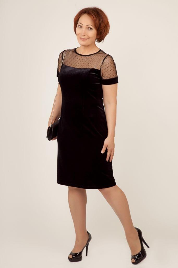 Короткое черное платье для мамы на свадьбу невесты или жениха