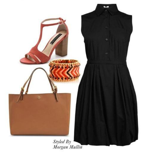 black-shirtdress