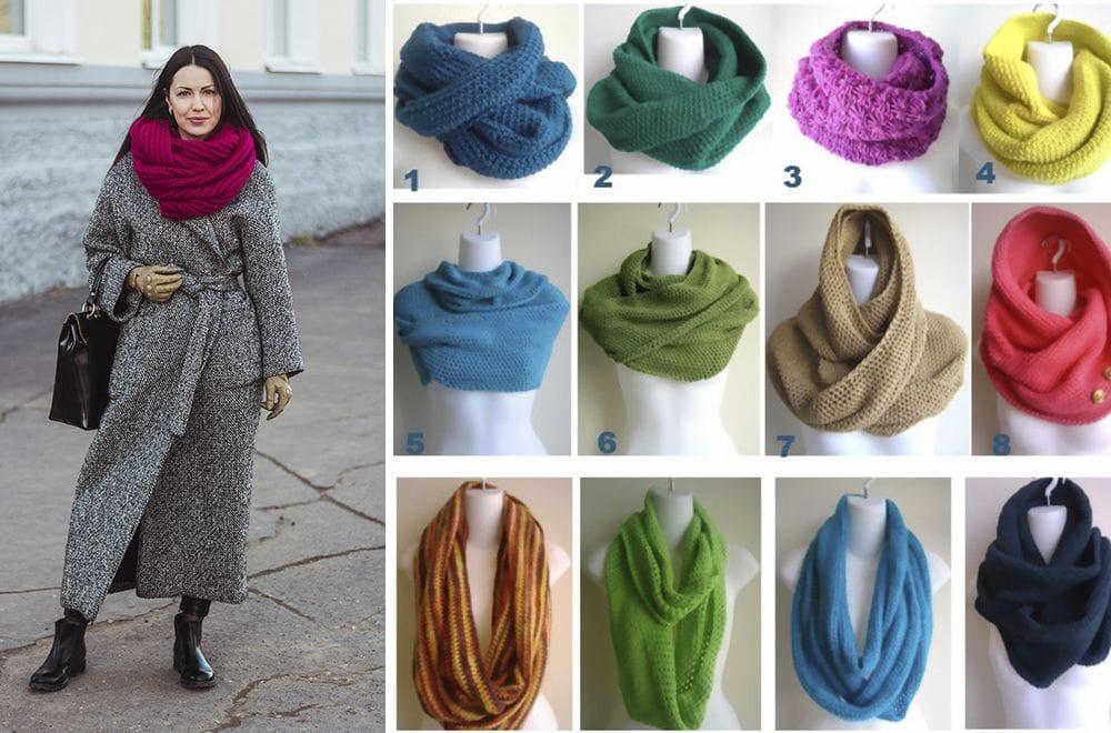 Как правильно завязать шарф хомут на шее