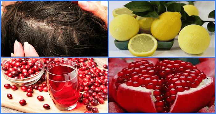 Лимон, клюква, гранат от педикулеза