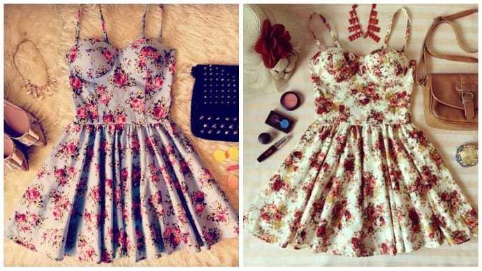 Аксессуары для платья с цветами