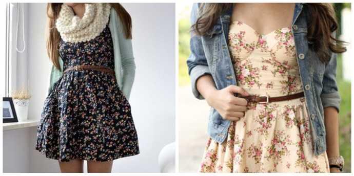 C чем можно одеть платье в цветочек